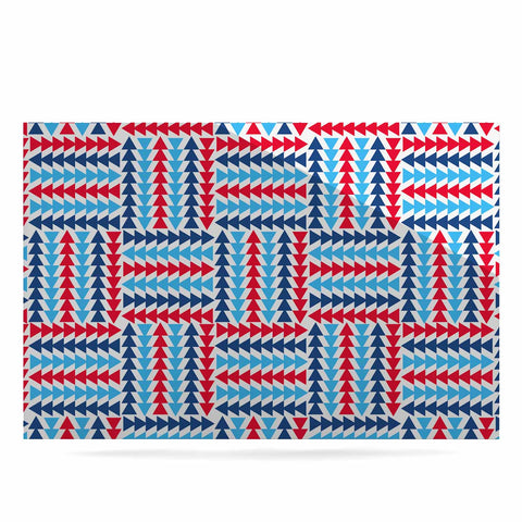 "afe images ""AFE Abstract Basket Weave"" Red Blue Abstract Pattern Digital Illustration Luxe Rectangle Panel"