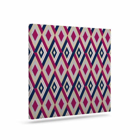 "afe images ""AFE Diamond Pattern"" Multicolor Diamond Pattern Digital Illustration Art Canvas"