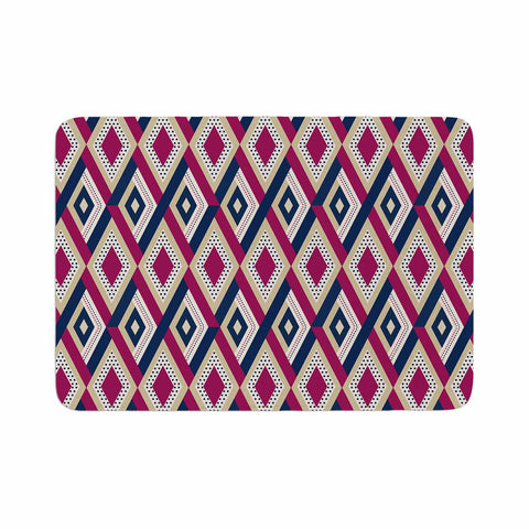 "afe images ""AFE Diamond Pattern"" Multicolor Diamond Pattern Digital Illustration Memory Foam Bath Mat"