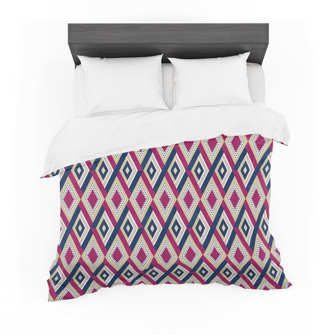 "afe images ""AFE Diamond Pattern"" Multicolor Diamond Pattern Digital Illustration Featherweight Duvet Cover"