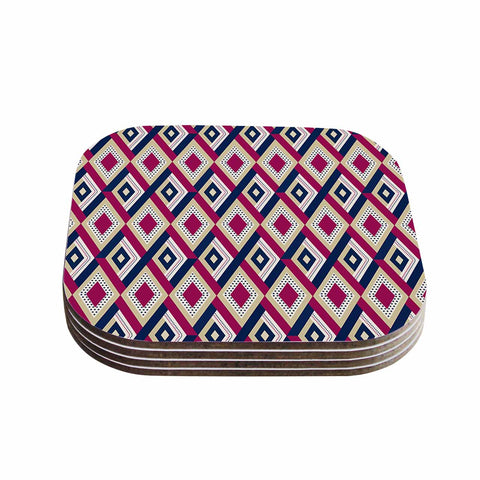 "afe images ""AFE Diamond Pattern"" Multicolor Diamond Pattern Digital Illustration Coasters (Set of 4)"