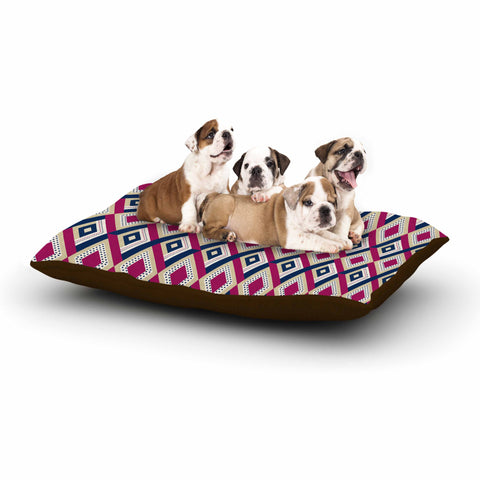 "afe images ""AFE Diamond Pattern"" Multicolor Diamond Pattern Digital Illustration Dog Bed"