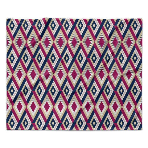 "afe images ""AFE Diamond Pattern"" Multicolor Diamond Pattern Digital Illustration Fleece Throw Blanket"