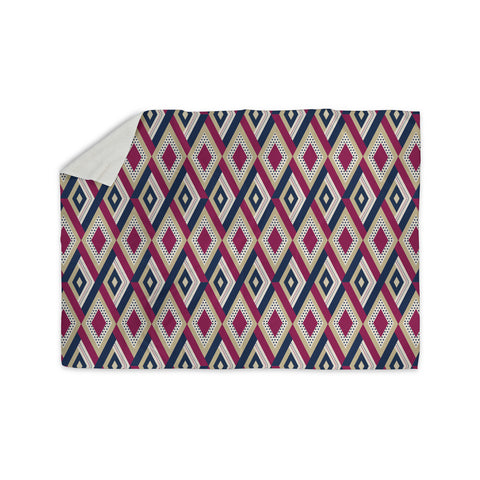 "afe images ""AFE Diamond Pattern"" Multicolor Diamond Pattern Digital Illustration Sherpa Blanket"