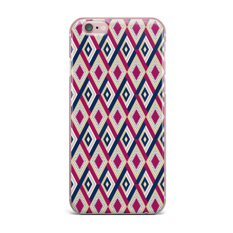 "afe images ""AFE Diamond Pattern"" Multicolor Diamond Pattern Digital Illustration iPhone Case"