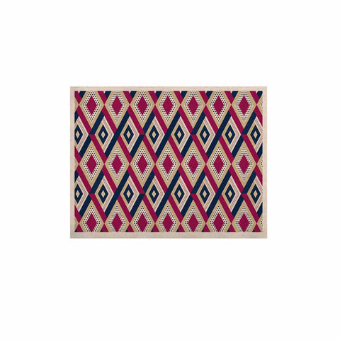 "afe images ""AFE Diamond Pattern"" Multicolor Diamond Pattern Digital Illustration KESS Naturals Canvas (Frame not Included)"