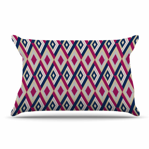 "afe images ""AFE Diamond Pattern"" Multicolor Diamond Pattern Digital Illustration Pillow Sham"