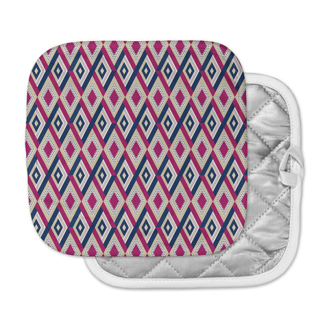 "afe images ""AFE Diamond Pattern"" Multicolor Diamond Pattern Digital Illustration Pot Holder"