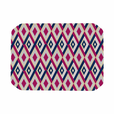 "afe images ""AFE Diamond Pattern"" Multicolor Diamond Pattern Digital Illustration Place Mat"