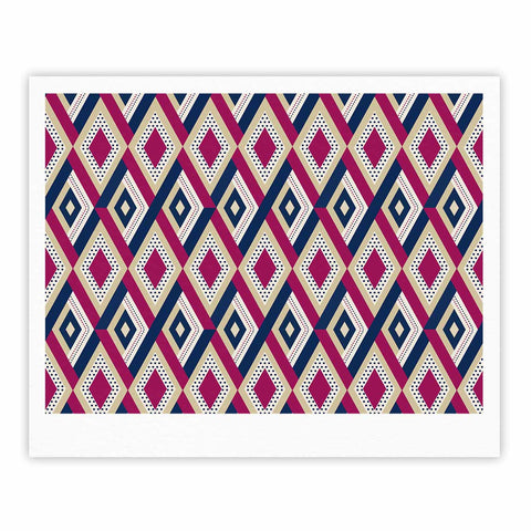 "afe images ""AFE Diamond Pattern"" Multicolor Diamond Pattern Digital Illustration Fine Art Gallery Print"