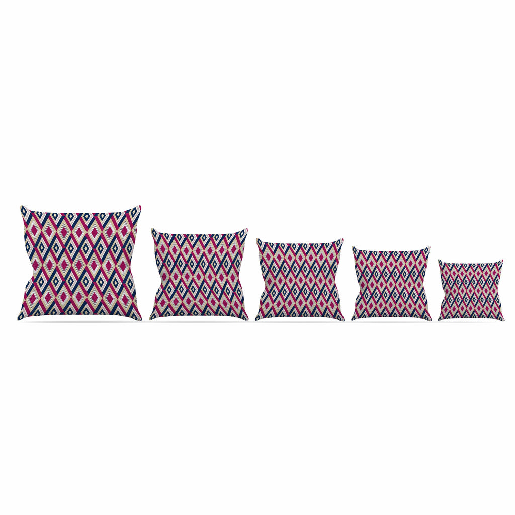 "afe images ""AFE Diamond Pattern"" Multicolor Diamond Pattern Digital Illustration Throw Pillow"