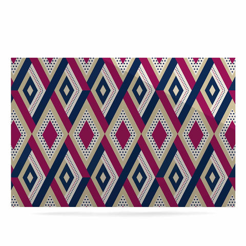 "afe images ""AFE Diamond Pattern"" Multicolor Diamond Pattern Digital Illustration Luxe Rectangle Panel"