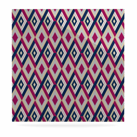 "afe images ""AFE Diamond Pattern"" Multicolor Diamond Pattern Digital Illustration Luxe Square Panel"