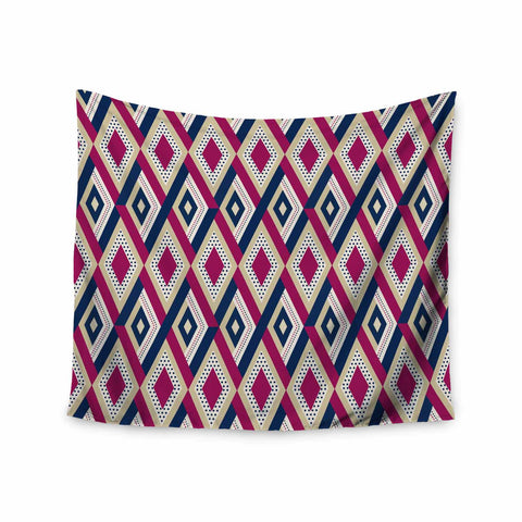 "afe images ""AFE Diamond Pattern"" Multicolor Diamond Pattern Digital Illustration Wall Tapestry"