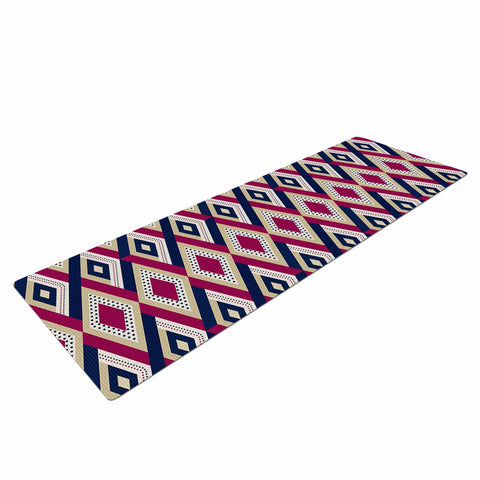 "afe images ""AFE Diamond Pattern"" Multicolor Diamond Pattern Digital Illustration Yoga Mat"
