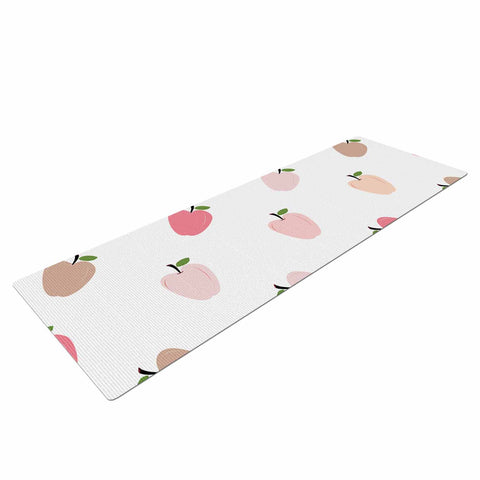 "afe images ""AFE Pastel Apples"" Pink Multicolor Pattern Abstract Digital Illustration Yoga Mat"