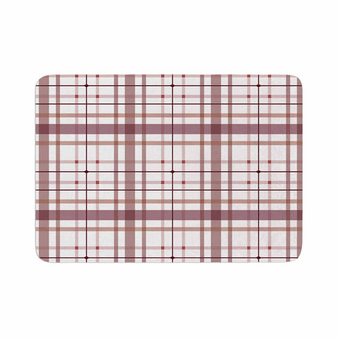 "afe images ""AFE Tartan Pattern2"" Brown Maroon Checker Pattern Illustration Digital Memory Foam Bath Mat"