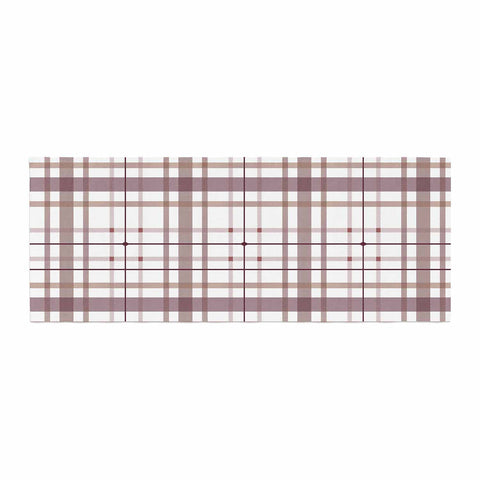 "afe images ""AFE Tartan Pattern2"" Brown Maroon Checker Pattern Illustration Digital Bed Runner"
