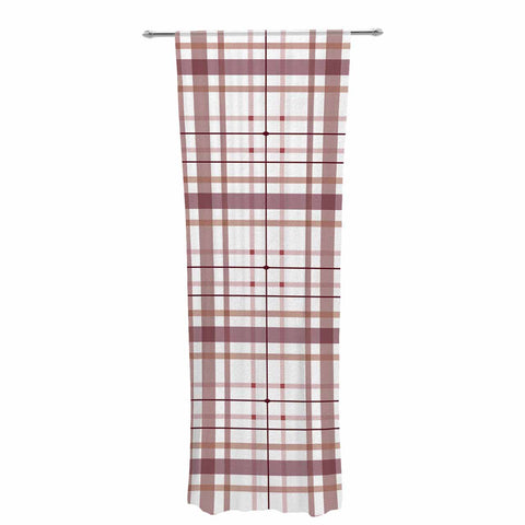 "afe images ""AFE Tartan Pattern2"" Brown Maroon Checker Pattern Illustration Digital Decorative Sheer Curtain"