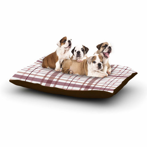 "afe images ""AFE Tartan Pattern2"" Brown Maroon Checker Pattern Illustration Digital Dog Bed"