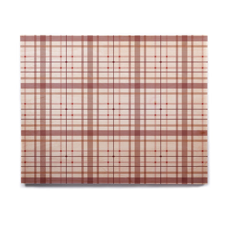 "afe images ""AFE Tartan Pattern2"" Brown Maroon Checker Pattern Illustration Digital Birchwood Wall Art"