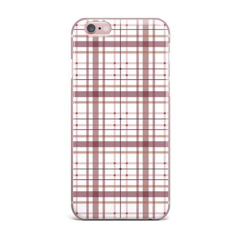"afe images ""AFE Tartan Pattern2"" Brown Maroon Checker Pattern Illustration Digital iPhone Case"