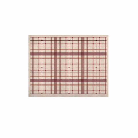 "afe images ""AFE Tartan Pattern2"" Brown Maroon Checker Pattern Illustration Digital KESS Naturals Canvas (Frame not Included)"