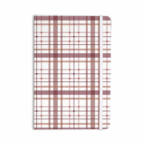 "afe images ""AFE Tartan Pattern2"" Brown Maroon Checker Pattern Illustration Digital Everything Notebook"