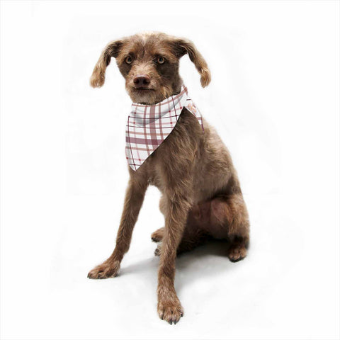 "afe images ""AFE Tartan Pattern2"" Brown Maroon Checker Pattern Illustration Digital Pet Bandana"