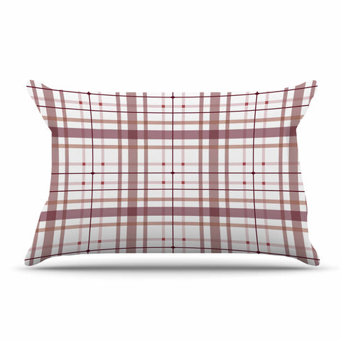 "afe images ""AFE Tartan Pattern2"" Brown Maroon Checker Pattern Illustration Digital Pillow Sham"