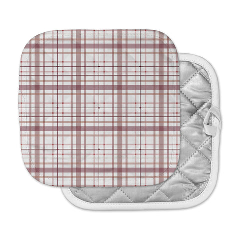 "afe images ""AFE Tartan Pattern2"" Brown Maroon Checker Pattern Illustration Digital Pot Holder"
