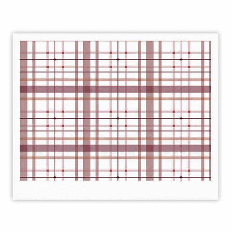 "afe images ""AFE Tartan Pattern2"" Brown Maroon Checker Pattern Illustration Digital Fine Art Gallery Print"