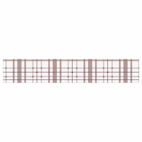 "afe images ""AFE Tartan Pattern2"" Brown Maroon Checker Pattern Illustration Digital Table Runner"