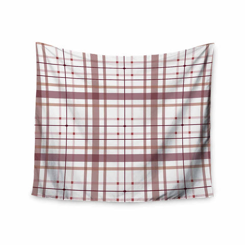"afe images ""AFE Tartan Pattern2"" Brown Maroon Checker Pattern Illustration Digital Wall Tapestry"