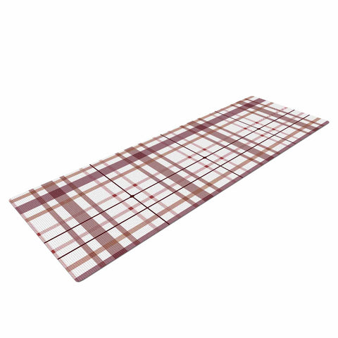 "afe images ""AFE Tartan Pattern2"" Brown Maroon Checker Pattern Illustration Digital Yoga Mat"