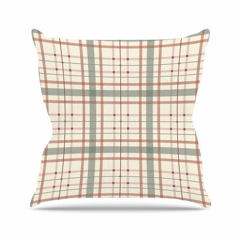 "afe images ""AFE Tartan Pattern"" Multicolor Pattern Checker Illustration Digital Outdoor Throw Pillow"