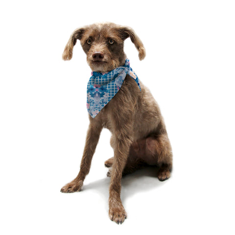 "Aimee St Hill ""Ornate Blue"" Blue Pet Bandana - Outlet Item"