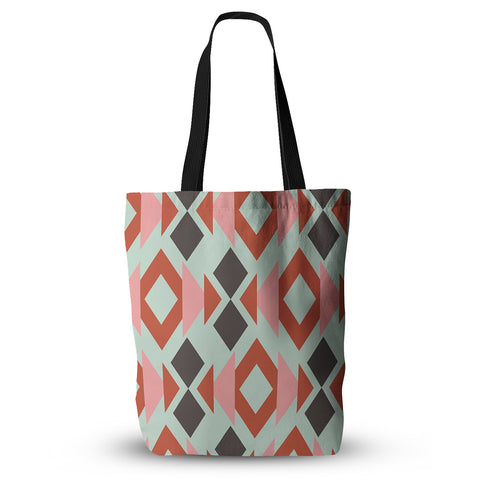 "Pellerina Design ""Coral Mint Triangle Weave"" Tote Bag - Outlet Item"