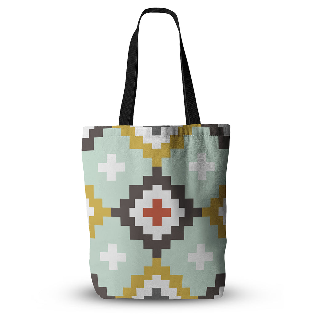 "Pellerina Design ""Gold Mint Moroccan Diamonds"" Yellow Green Everything Tote Bag - KESS InHouse"