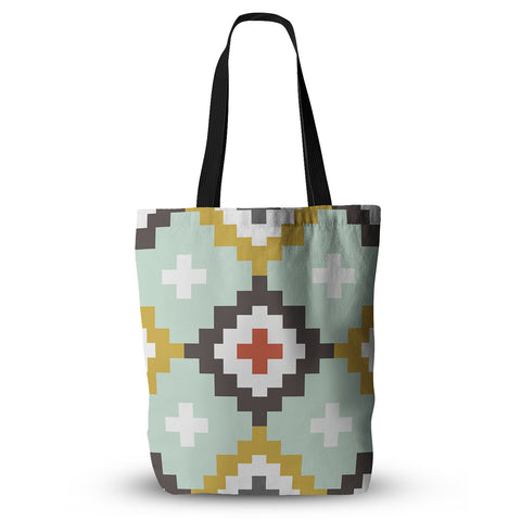 "Pellerina Design ""Gold Mint Triangle Weave"" Tote Bag - Outlet Item"