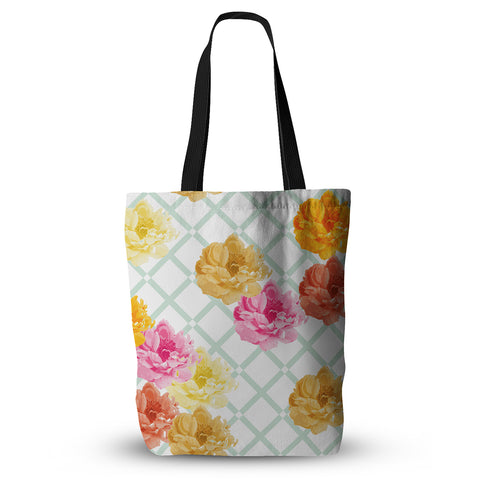 "Pellerina Design ""Trellis Peonies"" Tote Bag - Outlet Item"