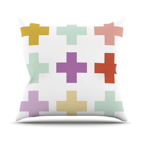 "Pellerina Design ""Mint Orchid Plus"" Multicolor Outdoor Throw Pillow - Outlet Item"