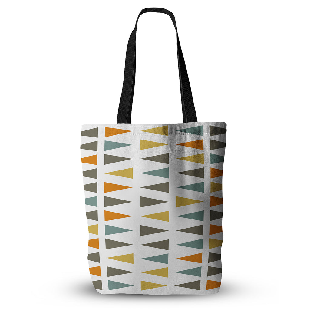 "Pellerina Design ""Stacked Geo"" White Triangles Everything Tote Bag - KESS InHouse"