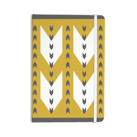 "Pellerina Design ""Golden Aztec"" Yellow White Everything Notebook - Outlet Item"