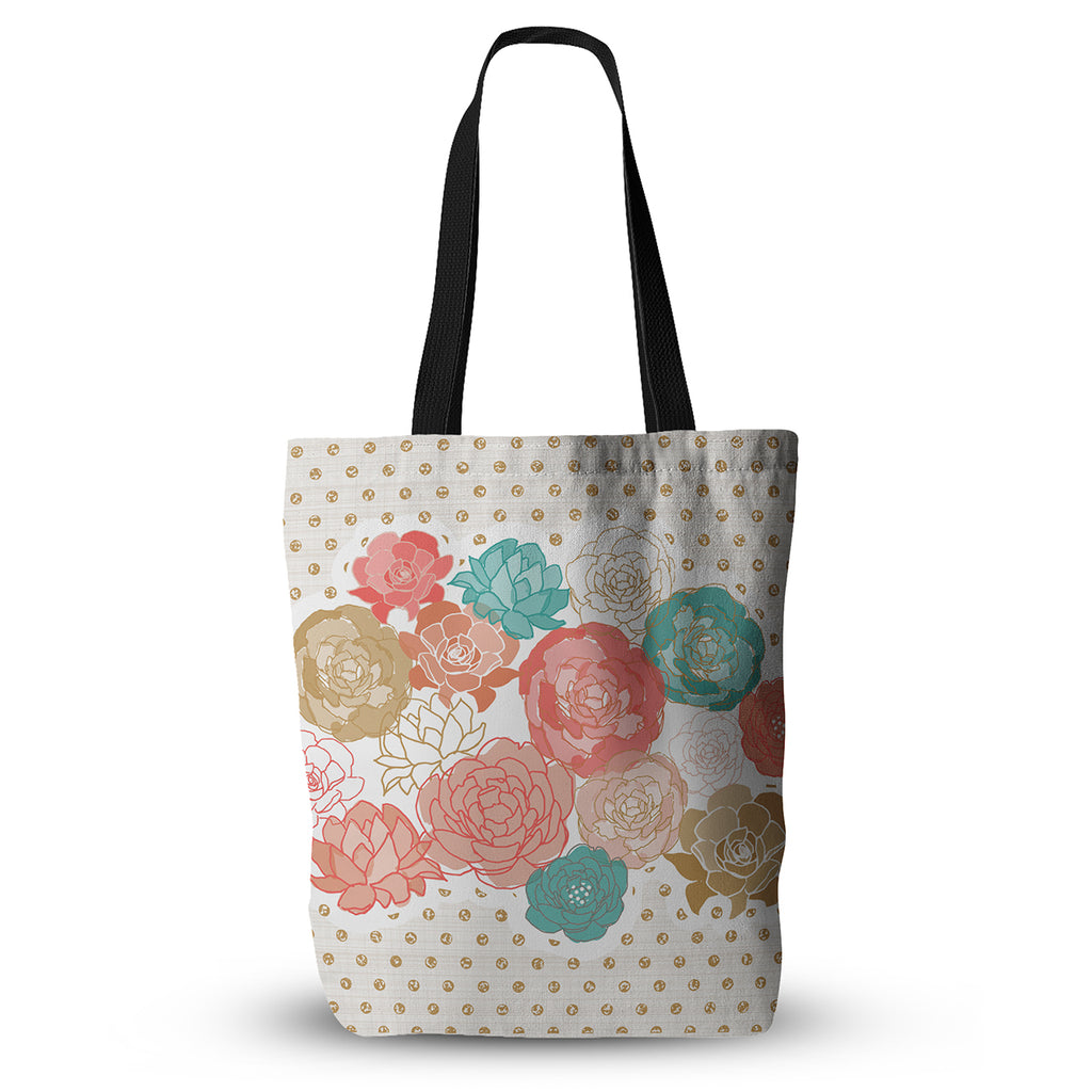 "Pellerina Design ""Spring Florals"" Blush Peony Everything Tote Bag - KESS InHouse  - 1"