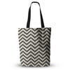 "Amanda Lane ""Moonrise Chevron ikat"" Everything Tote Bag - KESS InHouse  - 1"