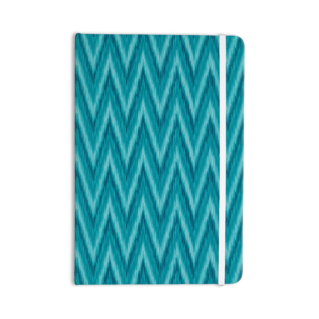 "Amanda Lane ""Island Blue"" Aqua Navy Everything Notebook - KESS InHouse  - 1"