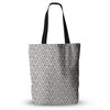 "Amanda Lane ""Geo Tribal Gray"" Grey Tribal Everything Tote Bag - KESS InHouse  - 1"