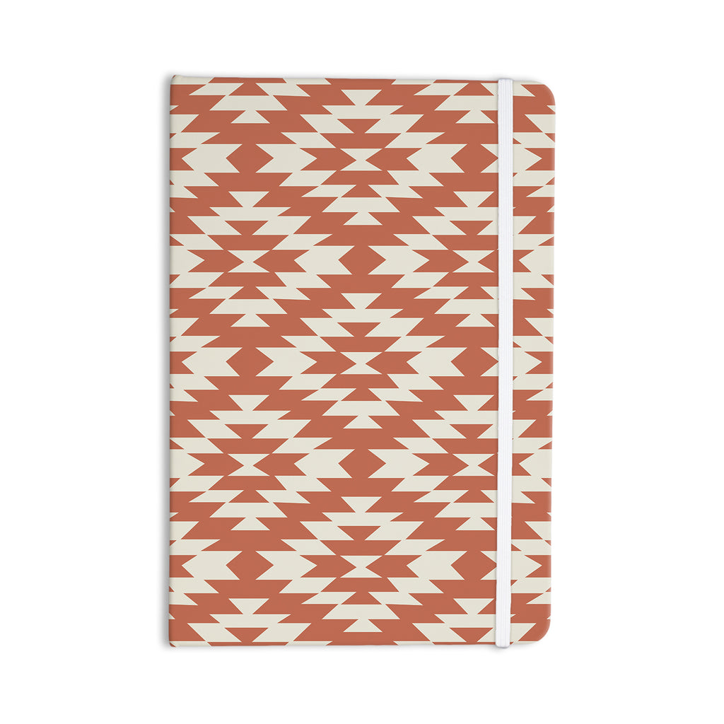 "Amanda Lane ""Navajo Toasted Coral"" Red Tribal Everything Notebook - KESS InHouse"