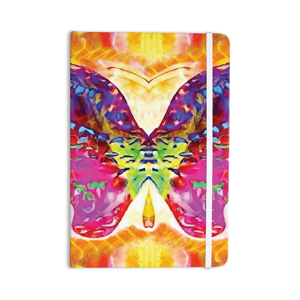 "Anne LaBrie ""Butterfly Spirit"" Pink Yellow Everything Notebook - KESS InHouse  - 1"